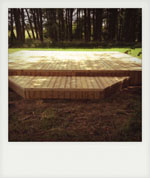 Decking for summer house. Liss, Hampshire