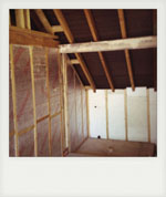 Stable barn conversion insulation. Liss, Hampshire