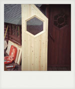 Hand made door for summer house. Liss, Hampshire