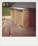 Outdoor utility cupboard. Liss, Hampshire