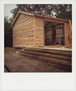 Waney Edge Cladding for barn. River, Midhurst, West Sussex